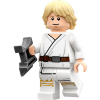 Lego Star Wars: Luke Skywalker (Farm Boy) with Binoculars & Womp Rat - Minifigure